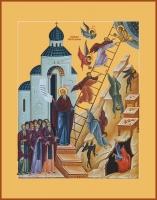 Видение Лествицы прп. Иоанном Лествичником, икона (арт.06689)