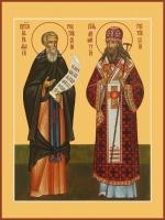 Авраам прп. и Димитрий свт. Ростовские, икона (арт.06756)