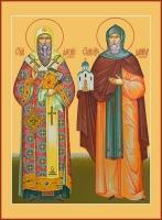 Алексий, митрополит Московский  и Даниил Московский благоверный князь, икона (арт.06781)