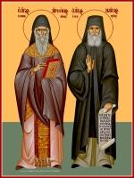 Арсений Каппадокийский и Паисий Афонский преподобные, икона (арт.06828)