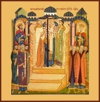 Воздвижение Честного и Животворящего Креста Господня, икона (арт.00682)