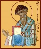 Спиридон Тримифунтский святитель, икона (арт.00764)