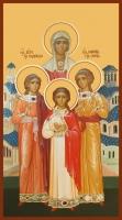 Вера, Надежда, Любовь и их матерь София мученицы, икона (арт.00917)