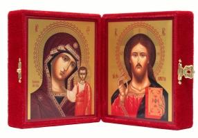 Венчальная пара икон Господь Вседержитель (арт.00103) и Божия Матерь Казанская (арт.00203)