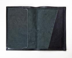 Обложка паспорт тиснение молитва Иисусова, крыло пластик (арт.МО41И) черная