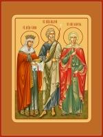 Семейная икона. Изготовление на заказ  (арт. S-019)