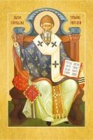 Спиридон Тримифунтский святитель, икона с молитвой, дорожная, пластик (арт.120784)