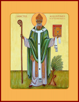 Августин Иппонийский, Святой блаженный, икона (арт.м0101)
