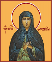 Преподобная Афанасия Эгинская, икона (арт.м0156)