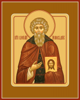 Преподобный Василий Декаполит Исповедник, икона (арт.м0162)
