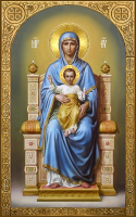 Богородица на престоле, икона (арт.м0563)