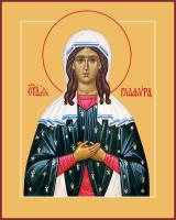 Праведная Глафира Амасийская, дева, икона (арт.м0650)