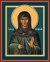праведная София (мать преподобного Саввы Освященного), икона (арт.м0651)