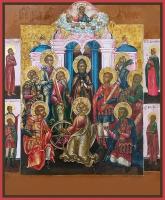 Девять святых мучеников Кизических: Феогнид, Руф, Антипатр, Феостих, Артема, Магн, Феодот, Фавмасий и Филимон, икона (арт.м0655)