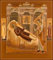 Пправедный Иоанн Огородник, икона (арт.м0681)