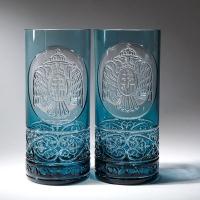 Стаканы для воды, пара. Цвет голубой (арт.АС12)