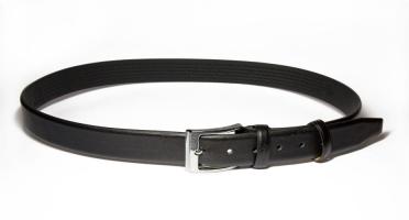 00111 Пояс ремень мужской кожаный, трехслойный, не прошитый. Ширина 35 мм (арт.МП1) черный
