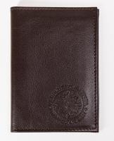 Обложка для авто документов, тиснение молитвы св. Матроне Московской,  крыло кожа с визитницей  (арт.МВ52М) бордо