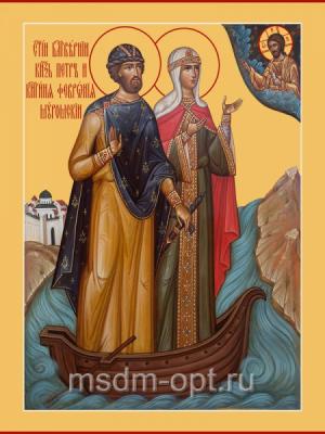 Петр и Феврония благверные кнн., икона (арт.06086)