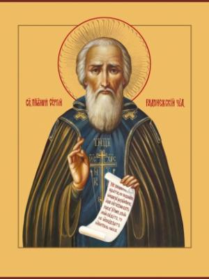 Сергий Радонежский преподобный, икона (арт.00882)